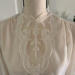 Vintage Ivory Lace Blouse